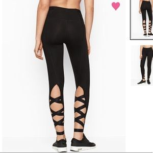 🆕 Victoria's Secret Black Knockout Lace Up Tight